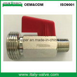 Chromiertes Messingminikugelventil/kleines Schlauch-Ventil (AV-MI-2008)