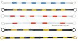 Barra espansibile riflettente gialla Pjtcb102 del cono di sicurezza stradale del nero 2m