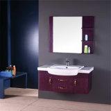 Тщета ванной комнаты твердой древесины высокого качества самомоднейшая с зеркалом