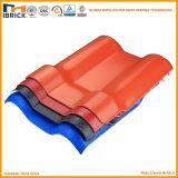 Folha ondulada plástica colorida do telhado da resina sintética de baixo preço/Panel/Board