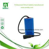 Cer RoHS Li-Ionbatterie 18650 7.4V 2000mAh für elektrische Einheit