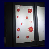 Tarjeta ULTRAVIOLETA de la pintura del color del diseño de la flor (ZH055)