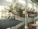 Pipe ondulée de double mur du PE pp de grand diamètre faisant des eaux d'égout d'évacuation d'approvisionnement en eau de machine siffler la ligne matériel (200-800mm) d'extrusion