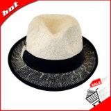 Chapéu de palha do papel da mistura de cor, chapéu do Fedora