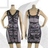 Deep V Night Club Lace Party Jumper Robes