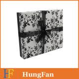 Het zwarte Witte Vakje van het Document van de Kleding van de Druk Verpakkende/het Vakje van de Gift