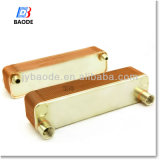 Steel inoxidable AISI 316 Plates Copper Brazed Plate Heat Exchanger para Solar Water Heating System