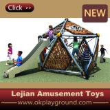 Glissière extérieure de jeu d'enfants simples et beaux d'escalade (P1201-4)