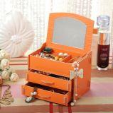 De nieuwe Doos van de Opslag van de Stijl DIY Houten Kosmetische met Spiegel, de Doos van Juwelen voor Oorring, Halsband, Ring
