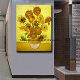 Peinture à l'huile 100% peinte à la main de tournesols