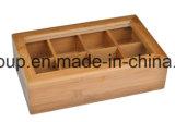 주문을 받아서 만들어진 백색 색깔 오래된 보는 격실 나무로 되는 전시 상자