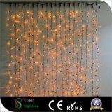 2X3m 600LEDs Decorações de Natal ao ar livre White Curtain Lights