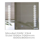 Espejo elegante iluminado montado en la pared del cuarto de baño del maquillaje del LED