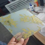 4mm 얼음 꽃 훈장을%s 티타늄 예술 유리