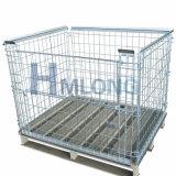 Gaiola da pálete do metal do engranzamento Foldable euro- para a venda