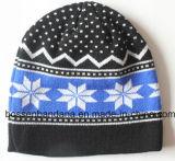 Kundenspezifischer Zeichen gestickter Acrylwolle-Winter-Ski Sports warmen gestrickten Beanie-Hut