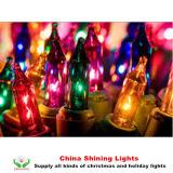 Decorazione tradizionale classica di festa del partito degli indicatori luminosi di natale