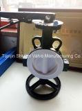 Выровнянная PTFE клапан-бабочка вафли Pn16 с ручкой JIS10k ANSI150