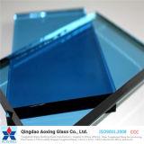 El claro, bronce, gris, azul, pone verde el vidrio de flotador teñido y reflexivo
