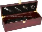 Комплект коробки подарка вина высокого качества деревянный одиночный