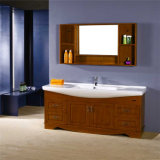 Оптовая деревянная тщета ванной комнаты самомоднейшая с бортовым шкафом