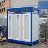 Casa portátil modular para o toalete