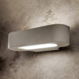 작은 백색 또는 크롬 Die-Cast 알루미늄 Talo Parete Fluo 벽 미러 램프