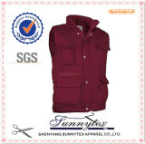 Hot Selling Mens Working 100% coton Vêtements de travail Multipockets Vest