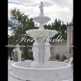 White Carrara Stone Sculpture Fountain for Gift Mf-293