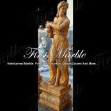 Statua di quattro stagioni Ms-517 del granito del calcio dorato di pietra di marmo della statua