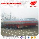 D'acier inoxydable de transport de camion-citerne remorque liquide corrosive semi