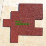 La gomma di gomma esterna di ginnastica delle mattonelle copre di tegoli le mattonelle di gomma quadrate Colorful Rubber Lastricatore