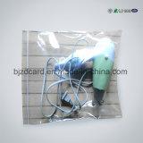 Do saco plástico desobstruído do Zipper do PE saco de alumínio Resealable do fechamento do fecho de correr