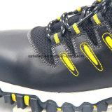 Zapatos de seguridad llenos de la luz del cuero de grano con la punta compuesta