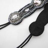 형식 여자의 수정같은 모조 다이아몬드 탄력 있는 머리띠 Headwrap 고대 도매를 복구해 무역 구슬로 만드는 머리 악대 동포