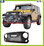 pour l'acier inoxydable de Jk de Wrangler de la jeep 07-16 et le gril d'ABS avec un éclairage LED