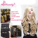 Moda de pelo rizado de pelo rizado de fibra de fibra peluca sintética cola de caballo