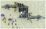 Ветрила прибоя спортивной площадки детей Kaiqi взбираясь серии с возбуждать игру Acitivities (KQ60117A)