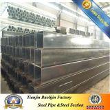Tubo hueco del hierro de ASTM A500 Q345 para la cerca