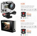 A câmera 12MP da ação de H3r WiFi Dual controlador do esporte Camera+Remote de Screen+4k ultra HD impermeável