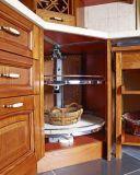 Gabinete 2017 de cozinha da madeira contínua de Welbom/mobília da cozinha (zq-028)