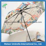 Parapluie mince superbe imprimé par couleur pliable de mode mini