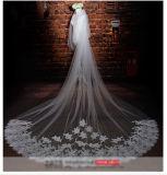 白い結婚式のベールを離れて1つか2つの層のカテドラルの長さをカスタマイズしなさい