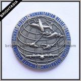 Pièce de monnaie bilatérale de souvenir en métal pour le cadeau d'avions (BYH-101170)