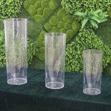 Vase acrylique clair à tour de mariage de pièce maîtresse