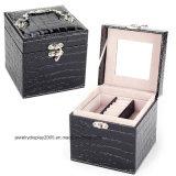 Кожа PU качества коробок ювелирных изделий хранение устроителя индикации 3 вспомогательных оборудований подарков венчания слоя