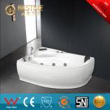 O banheiro sanitário dos mercadorias Canto-Localizou a banheira acrílica do Jacuzzi da massagem (BT-A1028)