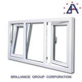 Ventana de aluminio de la vuelta de la inclinación/hacia adentro ventana de apertura