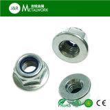 O zinco chapeou a contraporca de nylon galvanizada da flange Hex (DIN6926)