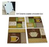 Onderlegger voor glazen van de Koffie van het vaatwerk de Sjofele Ceramische, de Mat van de Kop van de Gift van de Bevordering